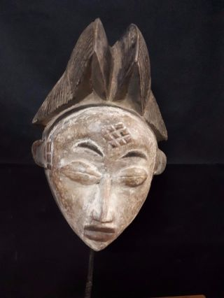 The Maiden Punu Mask Gabon Africa. .  Fest - Gb38 photo