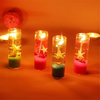 Ocean Jelly Candle Wedding Party Decoration Glass Cup Shell Birthday Candle photo