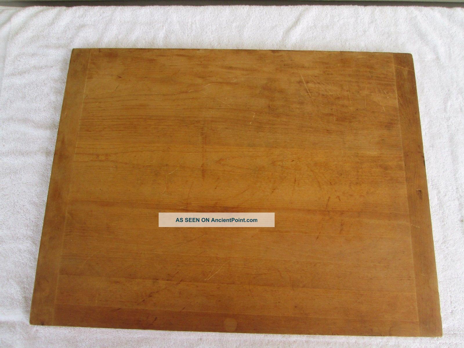 Vintage Large Wood Bread Board 26