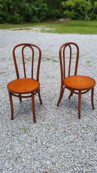 Thonet Bentwood Antique Bistro Chairs Has Tag On One photo