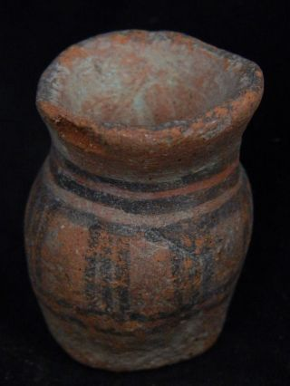 Ancient Teracotta Painted Pot Indus Valley 2500 Bc Pt15045 photo