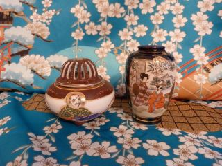 Japanese Small Vase,  Gift Small Burner photo