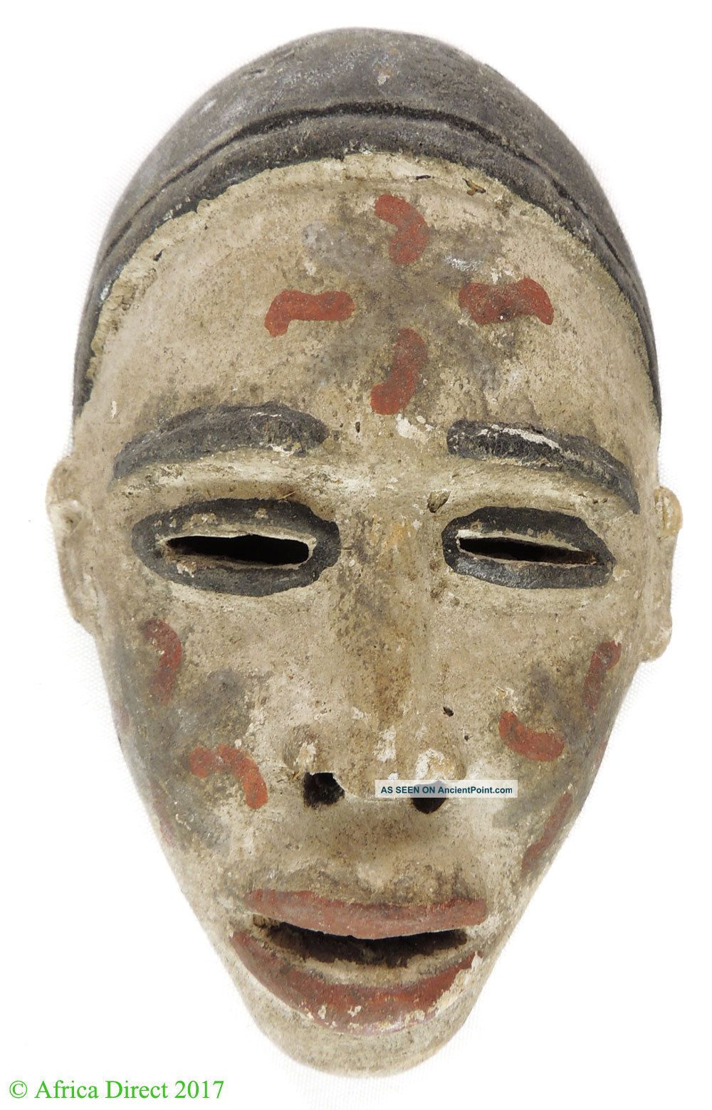 Bakongo Mask Passport Painted White Congo African Art Masks photo