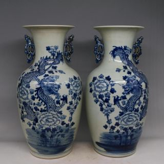 A Blue And White Porcelain Vase In Ancient Qianlong Products photo