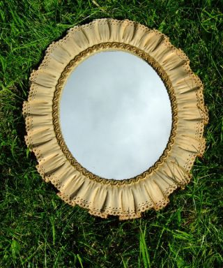 Syroco Mirror,  Shabby Chic,  Vintage,  C1940,  Collectors Item photo