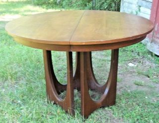 Mid Century Modern Brazilia Walnut Dining Extension Table,  3 Leaves - Eames - Wegner photo