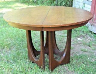 Mid Century Modern Brazilia Walnut Dining Extension Table,  3 Leaves - Eames - Wegner photo