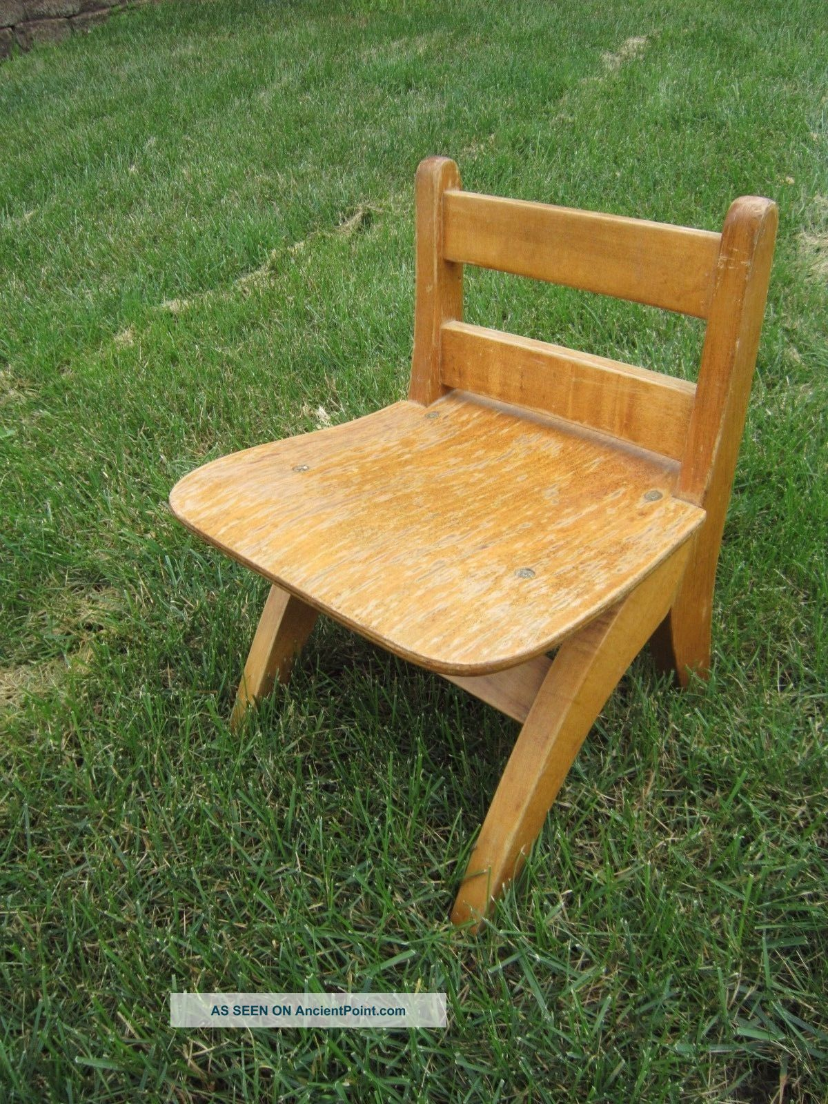 Vintage Wooden Child Chair Stool Shabby Country Primitive Decor, Primitives photo