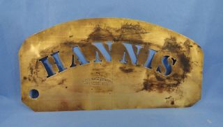 Antique ' Hannis ' Brass Stencil photo