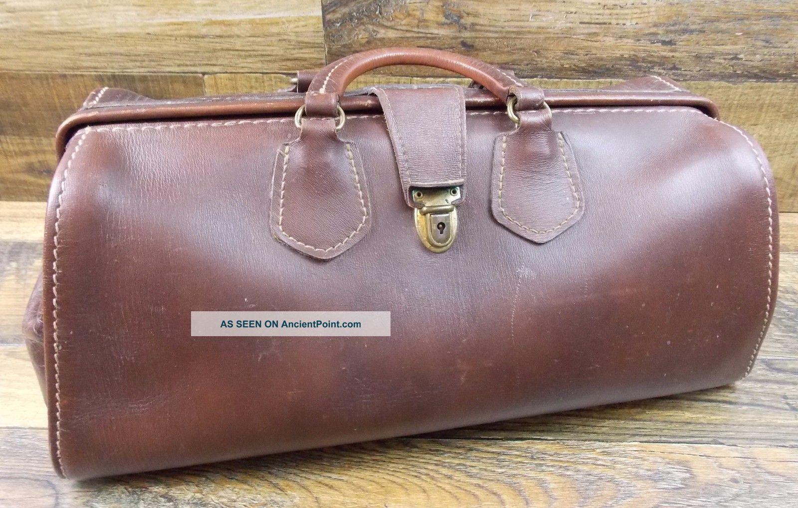 Vintage Brown Wear Best Top Grain Cowhide Doctors Bag 16 X 7 X 7 Doctor Bags photo