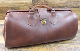 Vintage Brown Wear Best Top Grain Cowhide Doctors Bag 16 X 7 X 7 photo
