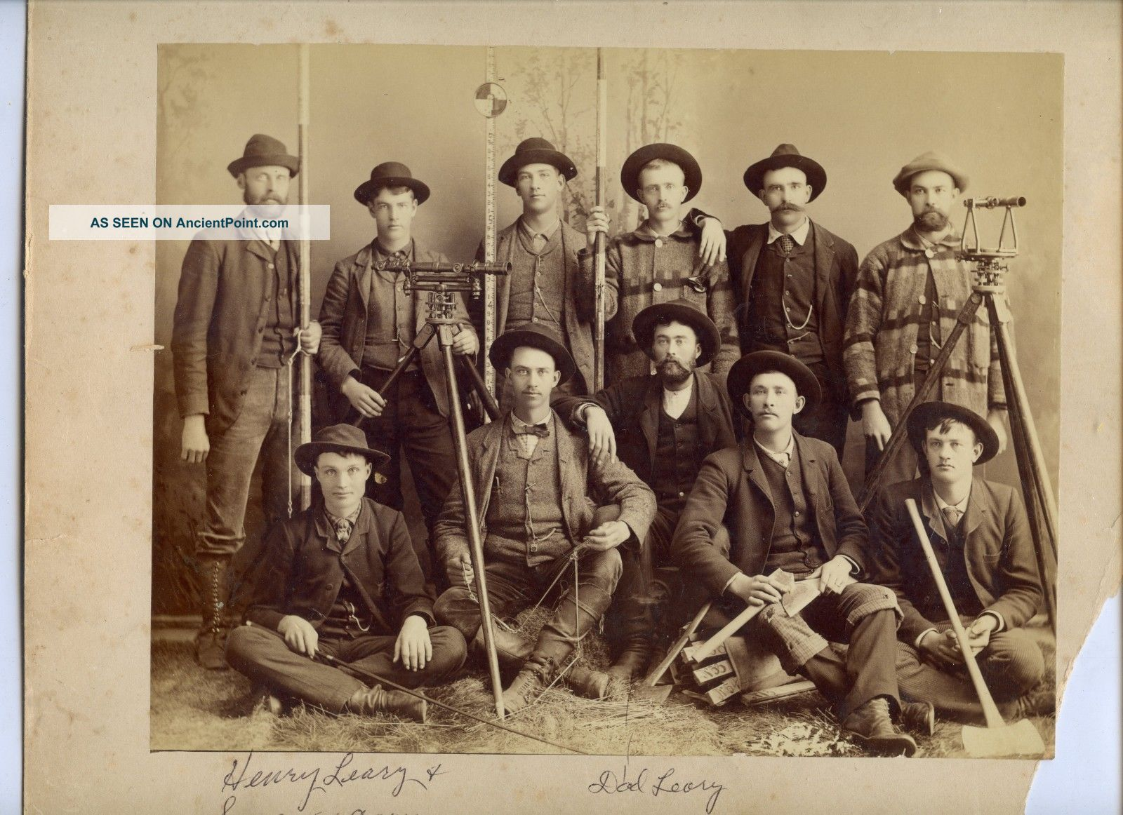 Outstanding Photograph Group Portrait Surveyors & Transit Merrill Wisconsin Engineering photo