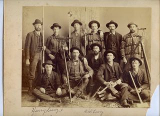 Outstanding Photograph Group Portrait Surveyors & Transit Merrill Wisconsin photo