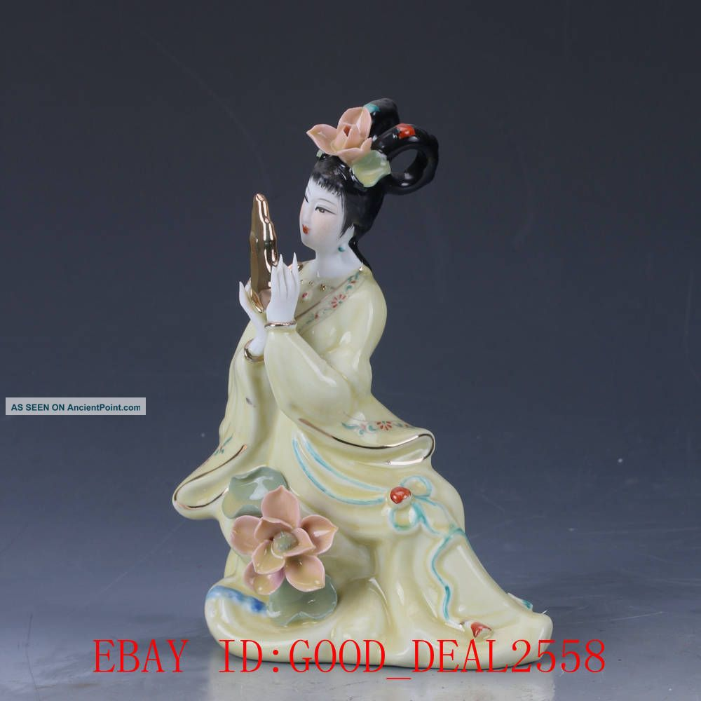 Chinese Porcelain Handmade Carved Beauty Statue Cx013 Figurines & Statues photo