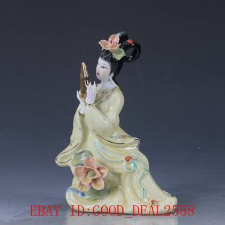 Chinese Porcelain Handmade Carved Beauty Statue Cx013 photo