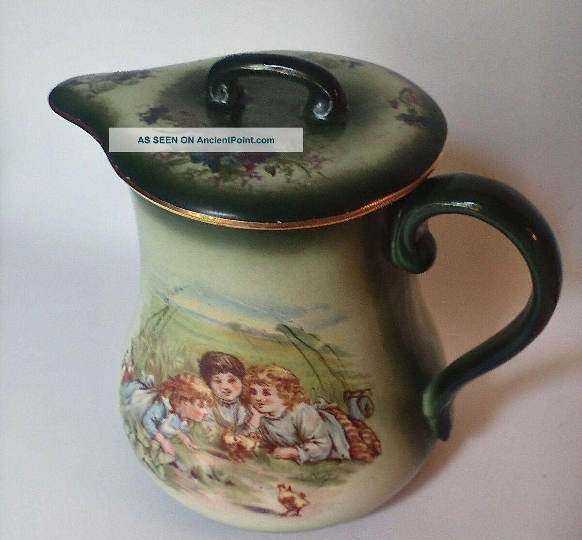 Antique Hand Painted Victorian Chocolate,  Coffee Pot,  Haynes Of Baltimore Teapots & Tea Sets photo