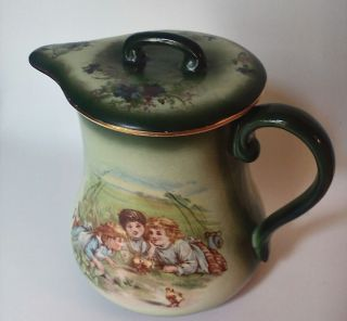 Antique Hand Painted Victorian Chocolate,  Coffee Pot,  Haynes Of Baltimore photo