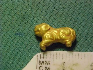 Sassanian Gold Amulet (quadruped) Circa 224 - 642 Ad photo