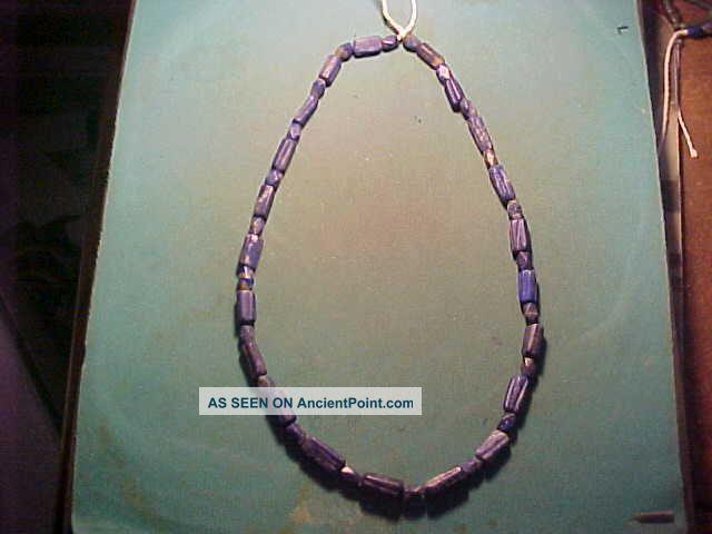String Of Roman Lapis Lazuli Beads Circa 100 - 400 Ad Near Eastern photo