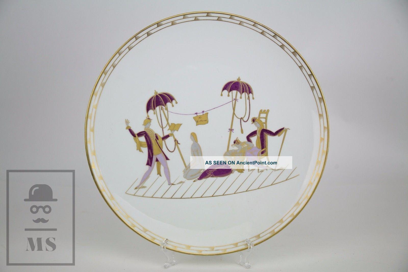 Italian Large Gio Ponti For Richard Ginori Porcelain Plate - La Lettura Plates & Chargers photo