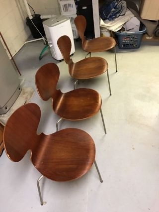 Danish Teak Dining Chairs photo