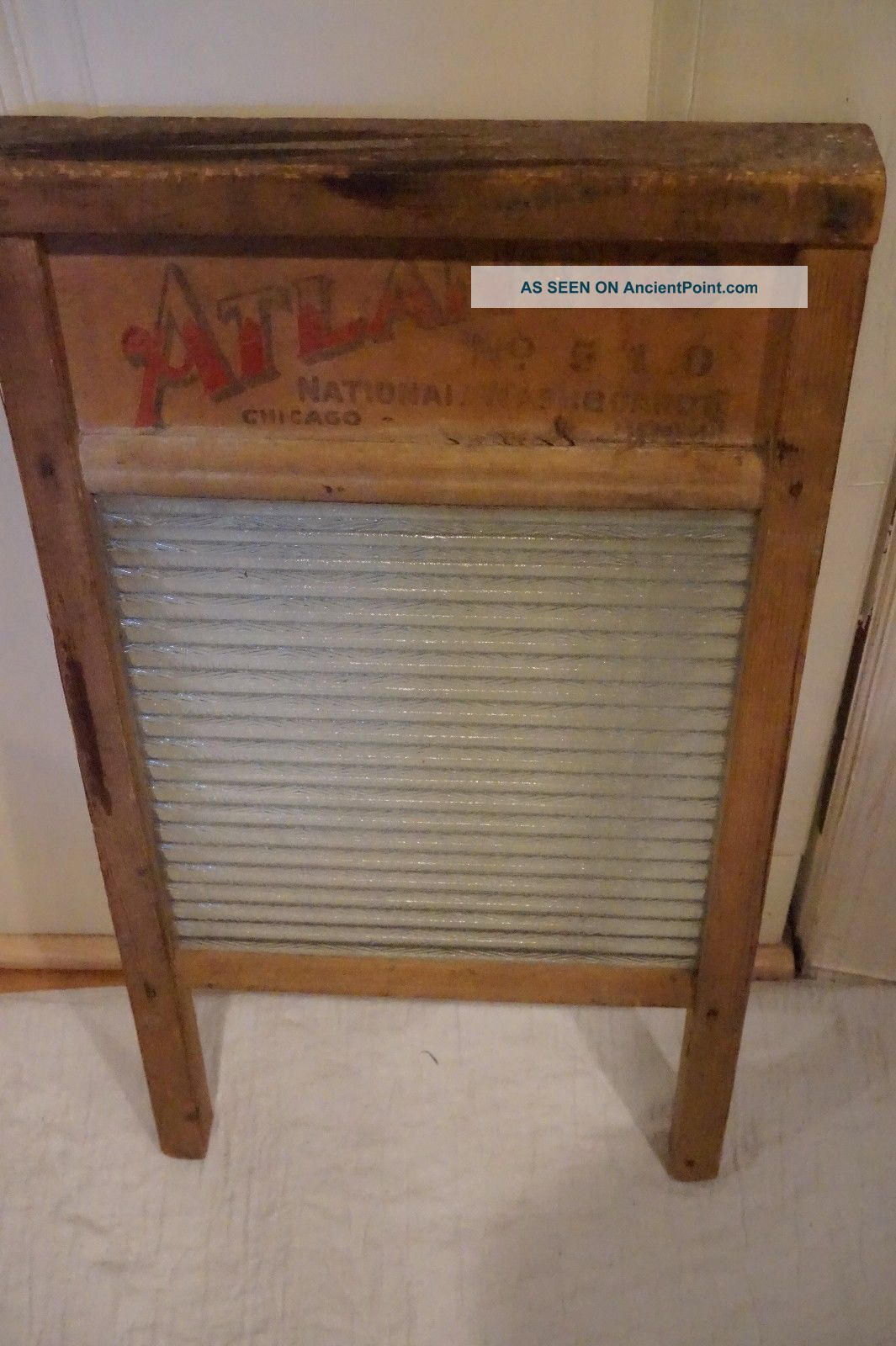Vintage Washboard Atlantic Chicago Washboard Other Antique Furniture photo