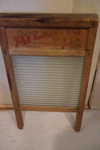 Vintage Washboard Atlantic Chicago Washboard photo