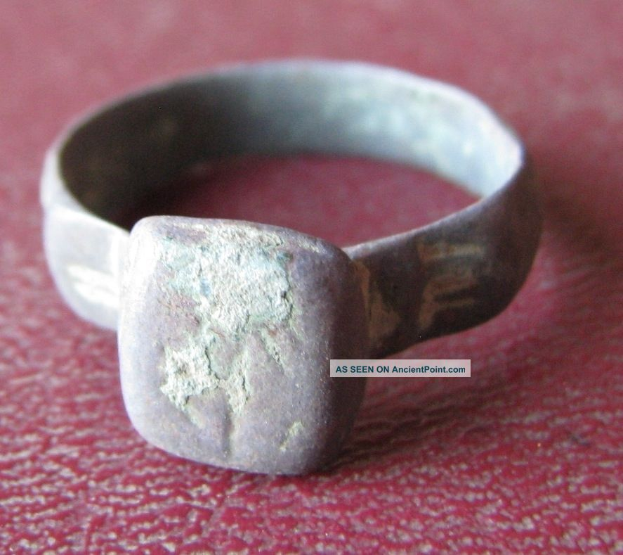 Metal Detector Find Finger Ring 9 1/2 Us 19.  25mm 9228 Roman photo