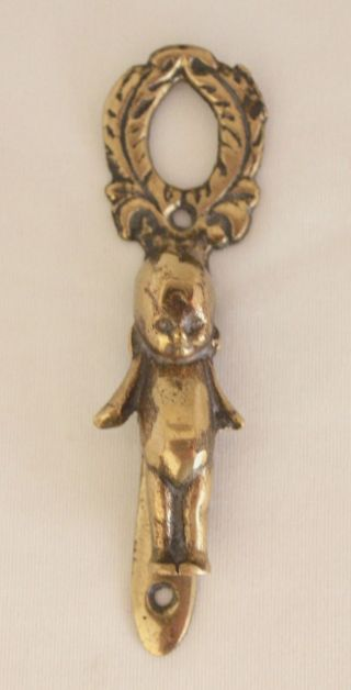 Vintage Brass Kewpie Doll Door Knocker 4 7/8
