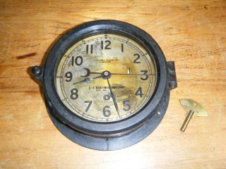 Vintage Chelsea Us Maritime Commission Boston Ship Ships Clock Bakelite Case photo
