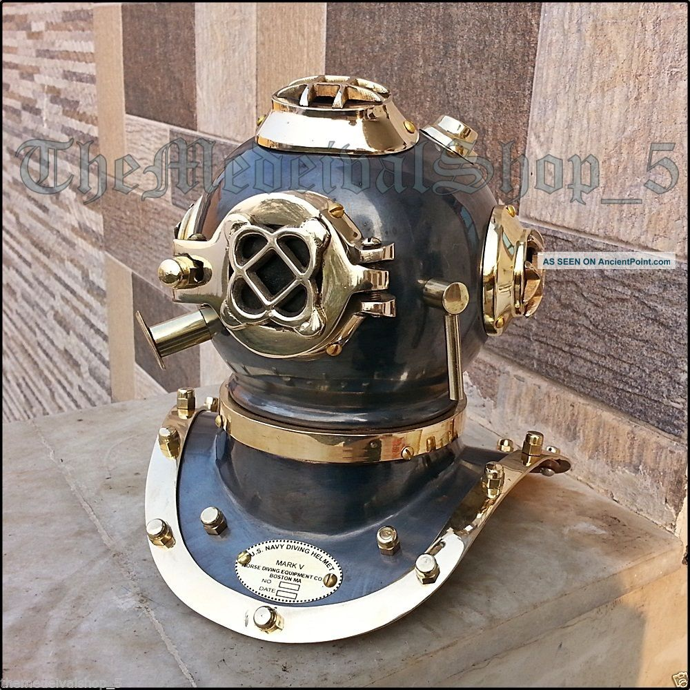 Us Navy Mark Iv Brass Copper Scuba Deep Sea Sca Divers Diving Helmet Decor Gift Diving Helmets photo