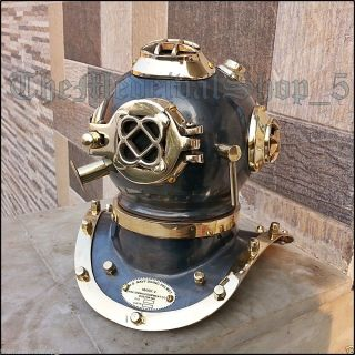Us Navy Mark Iv Brass Copper Scuba Deep Sea Sca Divers Diving Helmet Decor Gift photo