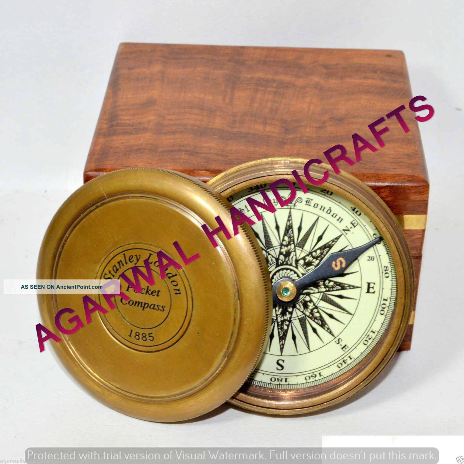 Antique 1885 Pocket Style Vintage London Poem Engraved Brass Compass Unique Gift See more Brass 1885 Pocket Style Vintage London Poem En... photo