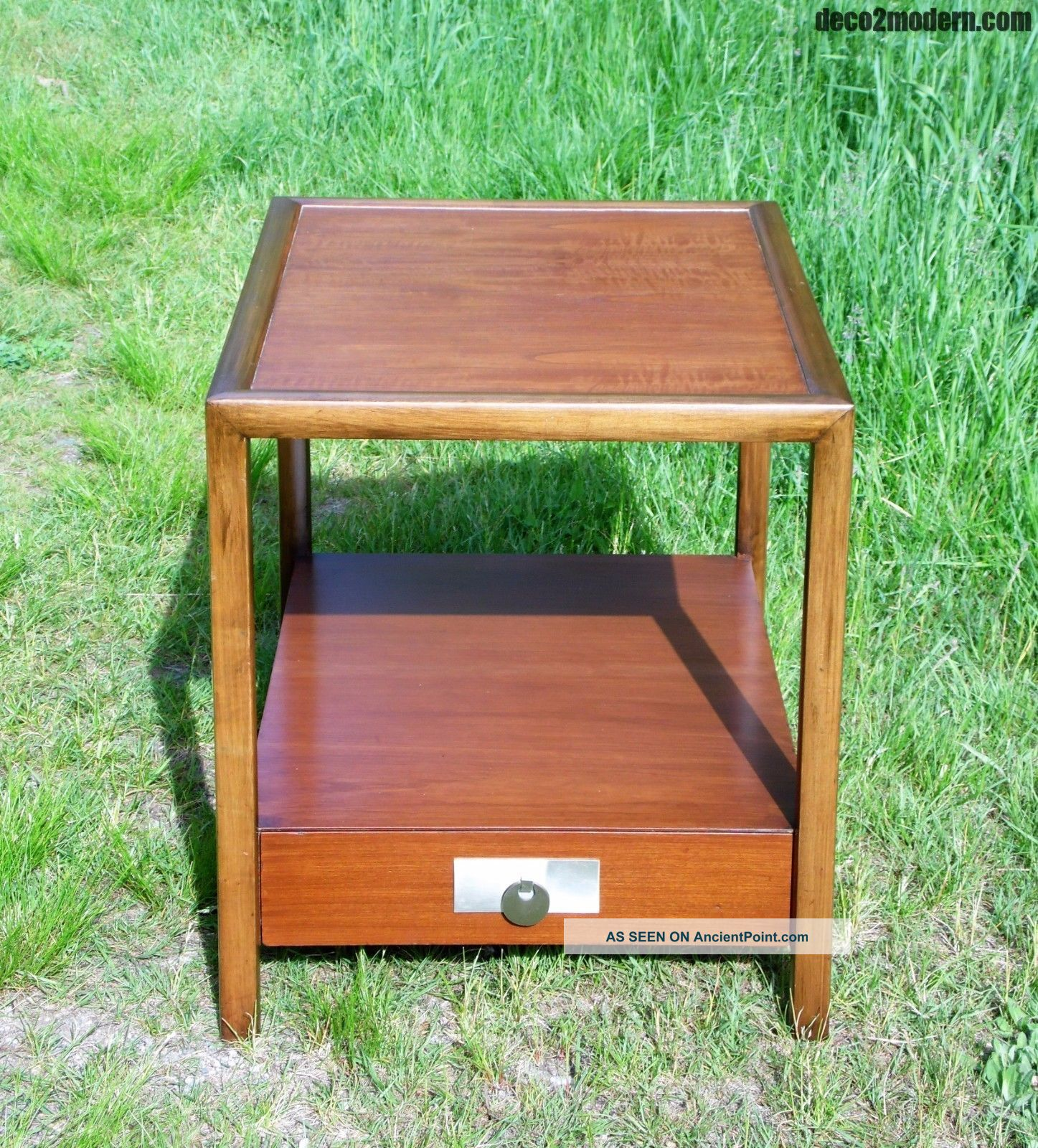 Vintage Mid Century Modern Michael Taylor End Table Nightstand Baker Furniture Mid-Century Modernism photo