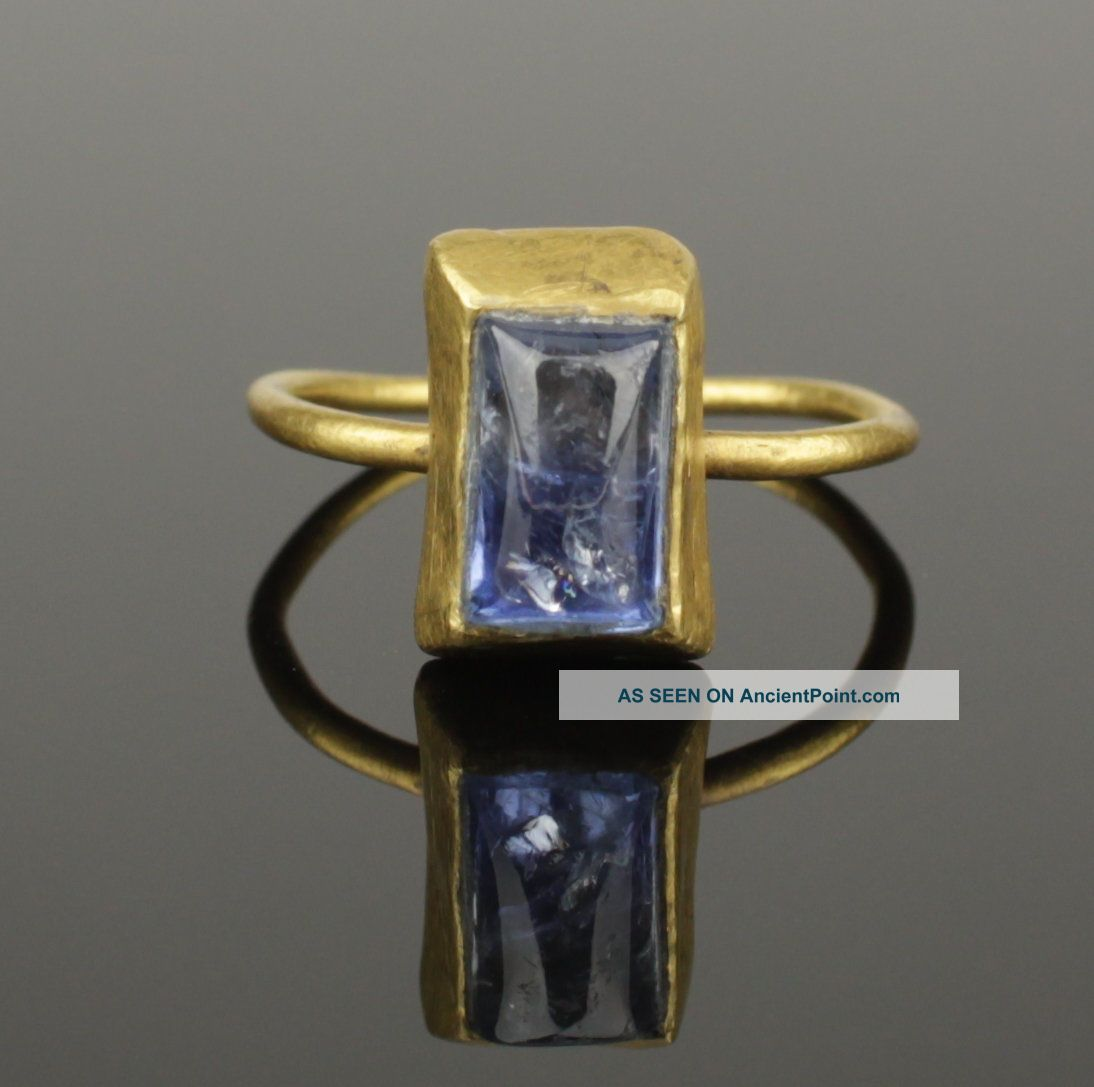 Medieval Gold & Sapphire Ring - Circa 14th/15th C Ad Other Antiquities photo