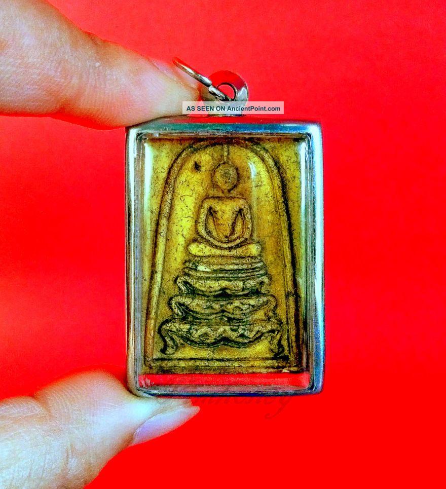 Amulet Thai Buddha Rare Phra Talisman Pendant Wealth Somdej Lp King Rama 5 Charm Amulets photo