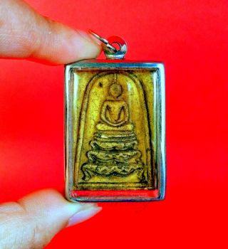 Amulet Thai Buddha Rare Phra Talisman Pendant Wealth Somdej Lp King Rama 5 Charm photo