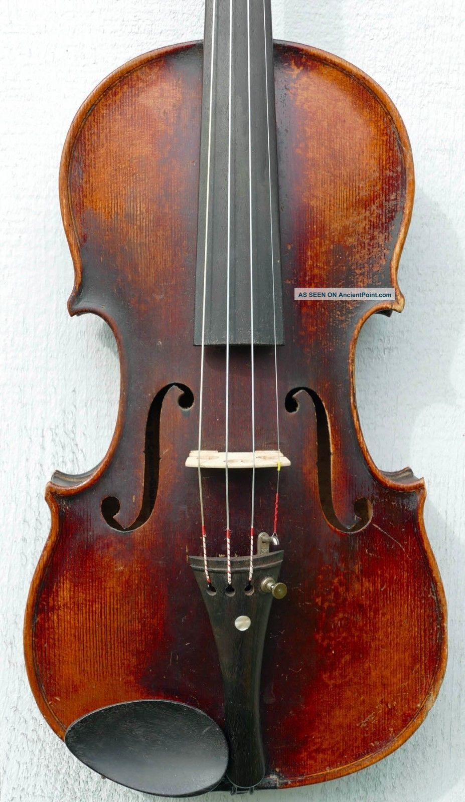 Old Antique 4/4 Violin,  Ca.  1920s Czecho - Slovakian Stradivarius Copy,  1290 String photo