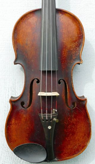 Old Antique 4/4 Violin,  Ca.  1920s Czecho - Slovakian Stradivarius Copy,  1290 photo