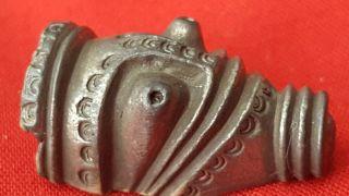 Stunning Viking Silver Beast Strap End Cir 9th Century photo