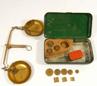 Miners ' Improved Gold Scale Expressly For California Troy Oz Weights photo