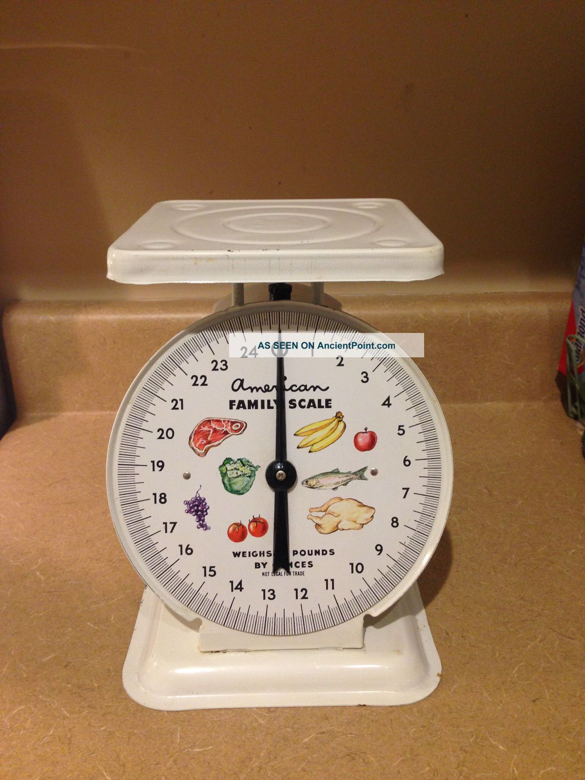 Antique Vintage American Family Scale 25 Pound Kitchen Counter Scale Scales photo