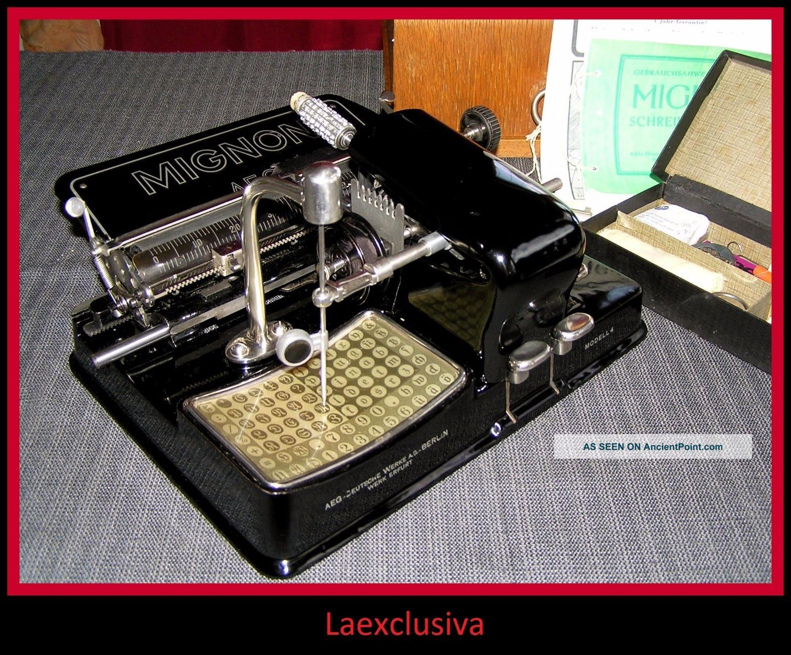 Great Mignon Typewriter From 1927;special Fraktur Gothic Script,  - Pictures Inside Typewriters photo