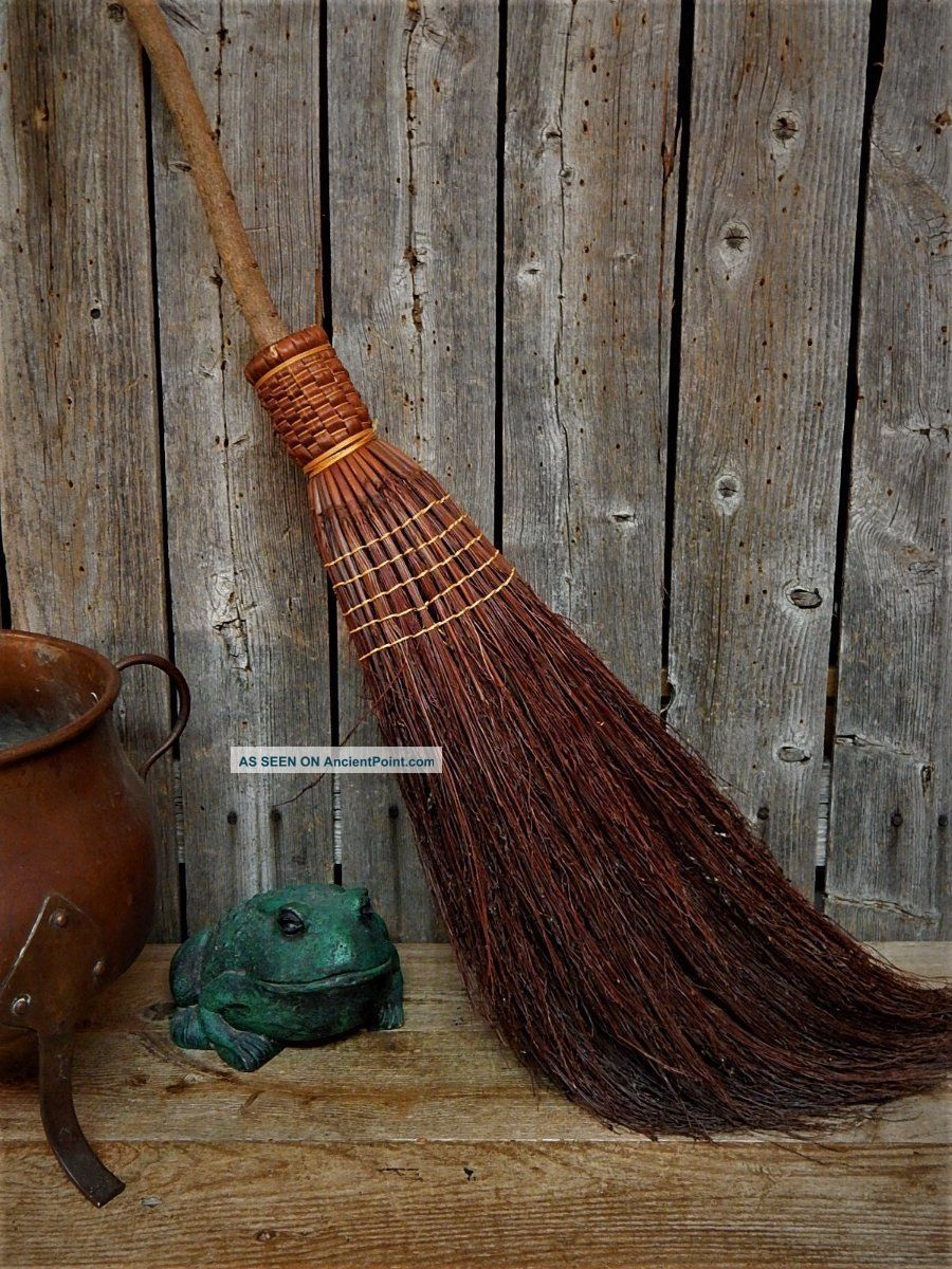 Old England Witch Hearth Broom Primitive Rustic Farmhouse 42