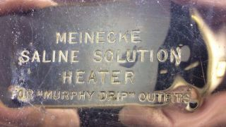 Vintage Meinecke & Co Safety Hot Water Bottle & Bed Warmer 1915 photo