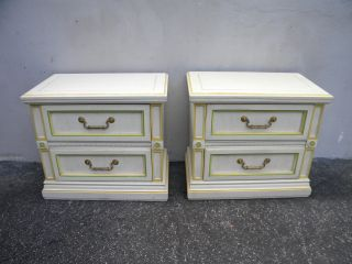 Large French Painted Nightstands End Side Tables 5231 photo