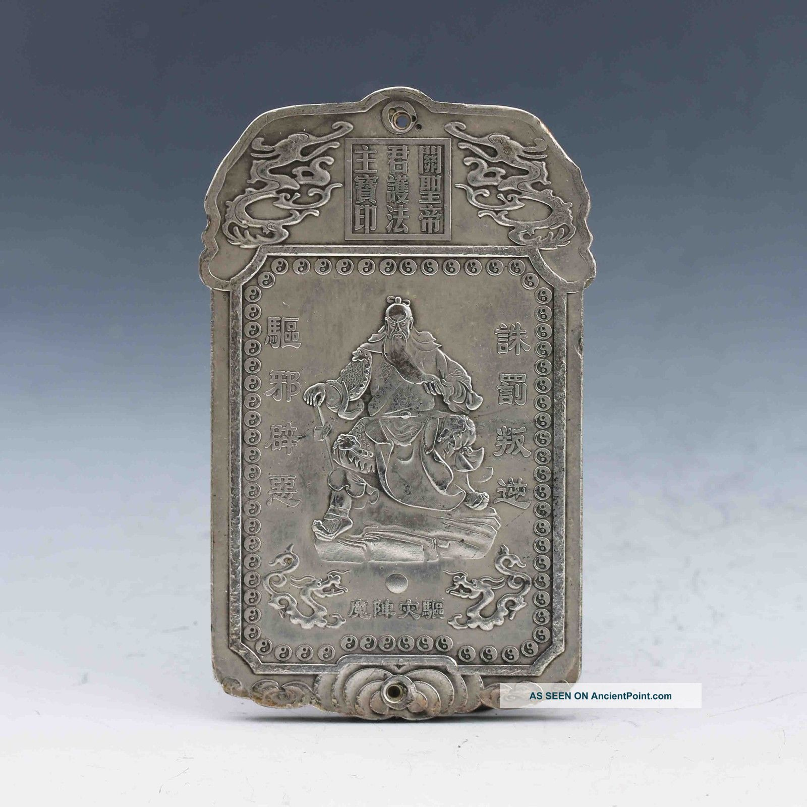 Tibet Silver Handwork Carved Ancient Portraits Brand Gd2034 Other Chinese Antiques photo
