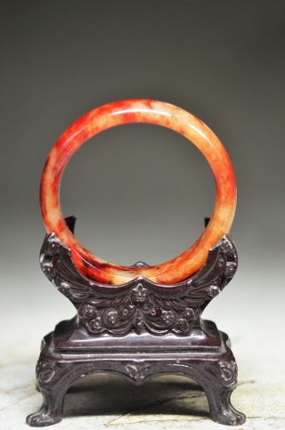 Elegant Chinese Old Jade Hand Carved Bracelets Oo11 photo