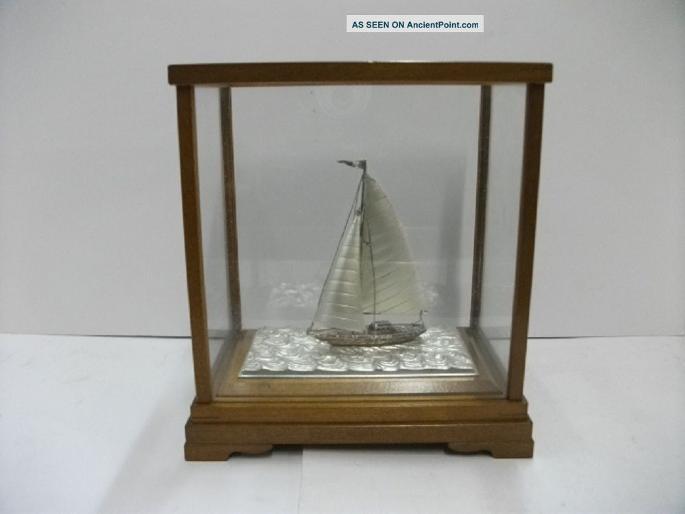 The Sailboat Of Silver Of The Most Wonderful Japan.  A Japanese Antique. Other Antique Sterling Silver photo