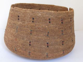 Native Eskimo Sea Grass Basket C.  1900 photo